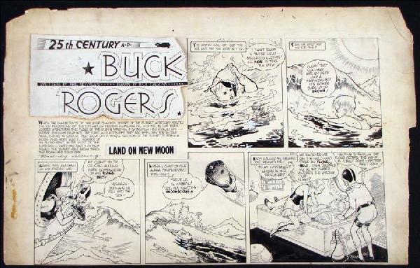 442024: DICK CALKINS BUCK ROGERS PARTIAL SUNDAY COMIC S