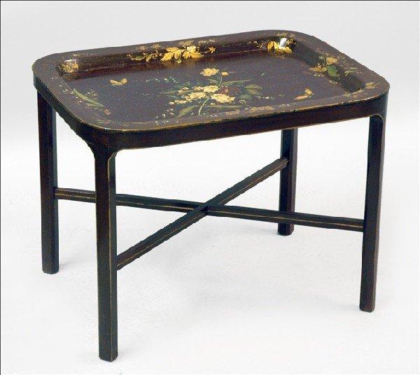 871004: PAPIER MACHE TRAY TABLE.