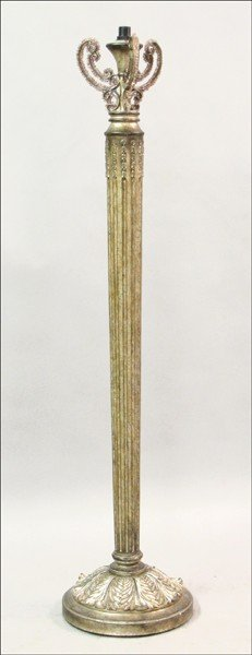 871024: LEEAZANNE PAINTED COMPOSITE FLOOR LAMP.