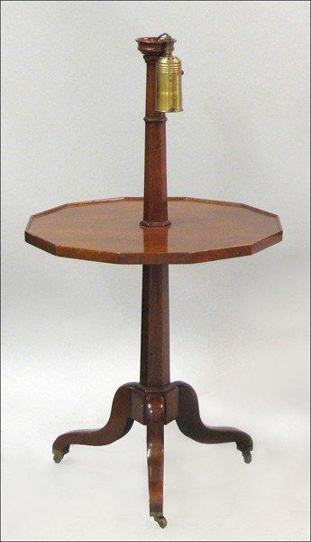 891016: MAHOGANY LAMP TABLE.