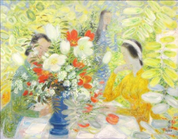 896116: LE PHO (1907-2001) JEUNES FILLES AU BOUQUET DE