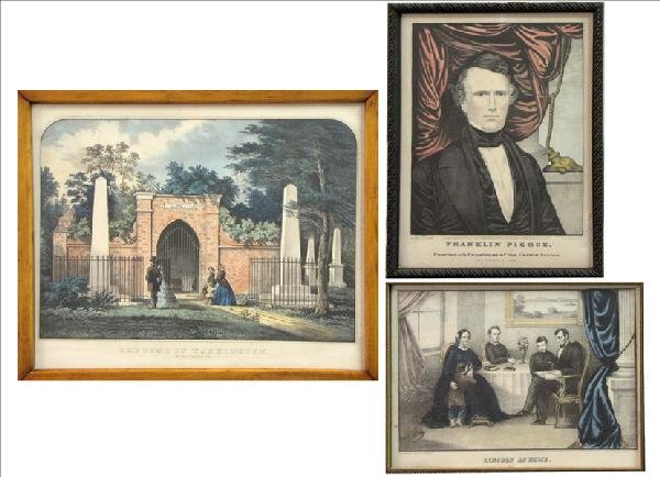 896264: GROUP OF THREE FRAMED PRESIDENTIAL PRINTS - CUR
