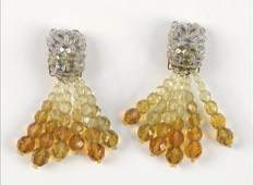 907004 PAIR OF COPPOLA E TOPPO FACETED GLASS BEAD EARC