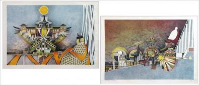 916058 ARTIST UNKNOWN CONTEMPORARY TWO PRINTS