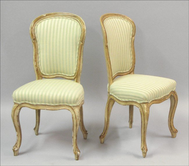 921003: SET OF SIX ITALIAN GILTWOOD AND GESSO SIDE CHAI