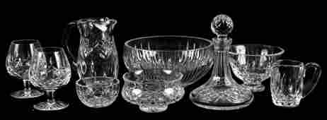 922001 COLLECTION OF WATERFORD CRYSTAL TABLE ARTICLES