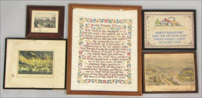 936034: GROUP OF THREE FRAMED CURRIER & IVES PRINTS.