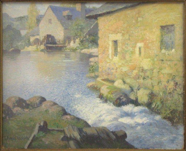 946001: GEORGE AMES ALDRICH (1872-1941) COUNTRY SCENE I