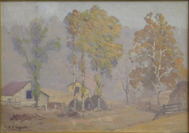 946002: RUDOLPH F. INGERLE (AMERICAN 1879-1950) FARMSTE