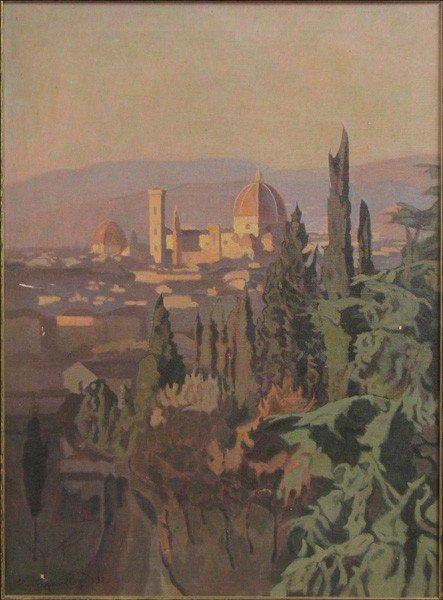 946009: LLEWELYN LLOYD (ITALIAN 1879-1950) VIEW OF FLOR