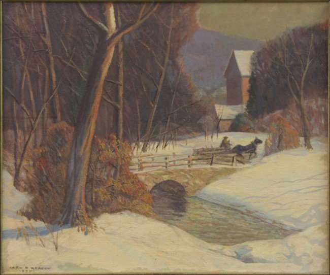946010: CARL KRAFFT (1885-1937) WINTER CHARMS.