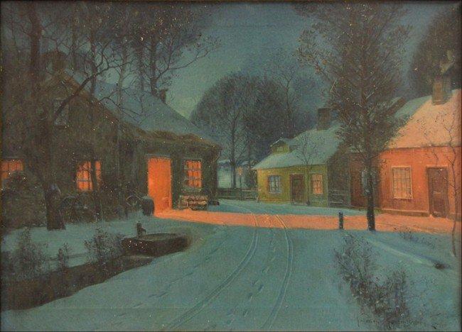946013: SVEND SVENDSEN (1864-1945) GLOW FROM THE BLACKS
