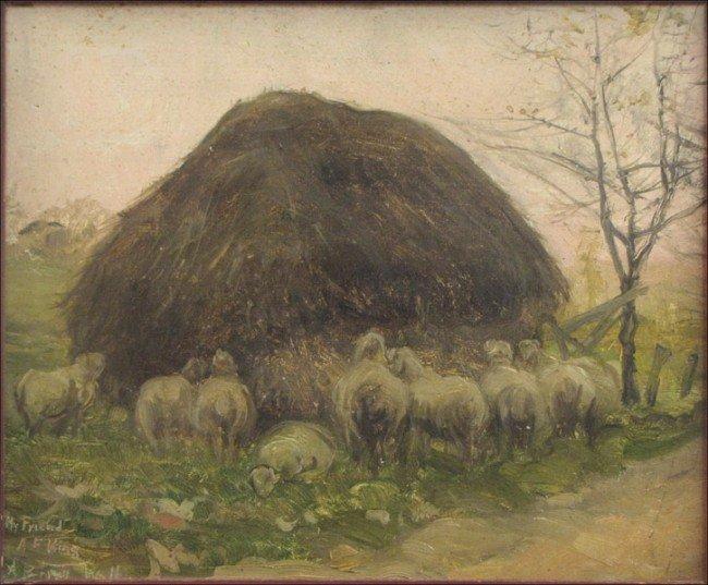 946019: ALFRED BRYAN WALL (AMERICAN 1861-1935) FEEDING