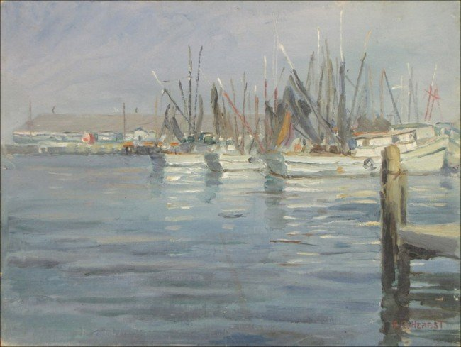 946020: FRANK C. HERBST (AMERICAN 1912-1970) BOATS IN H