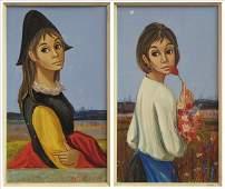 946047 JEAN PIERRE SERRIER FRENCH 19341989 TWO WORK