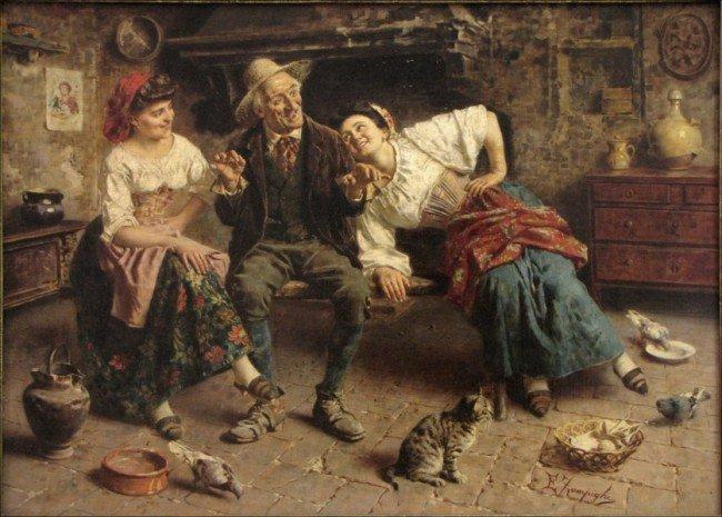 946064: EUGENIO ZAMPIGHI (1859-1944) A HAPPY STORY.