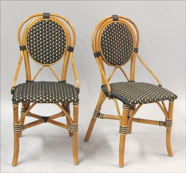 951008: SET OF FOUR PALECEK PATIO BISTRO CHAIRS.