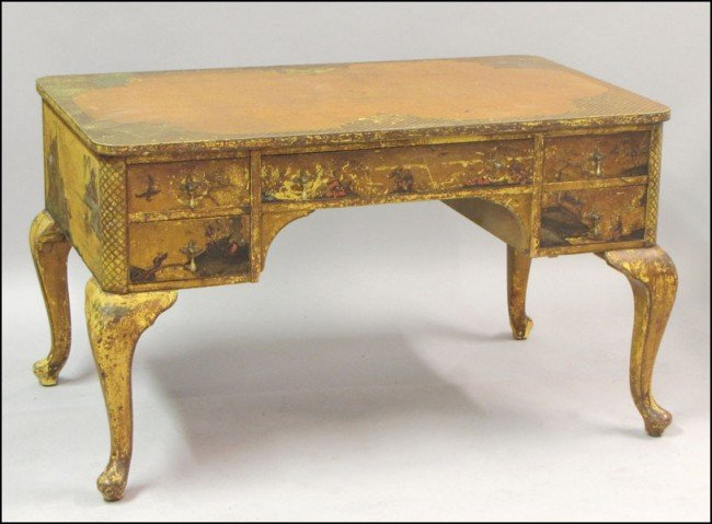 951013: CHINOISERIE STYLE PAINTED DESK.