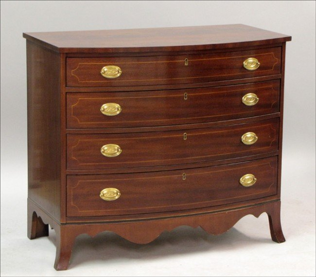 961001: HICKORY CHAIR COMPANY MAHOGANY CHEST OF DRAWERS