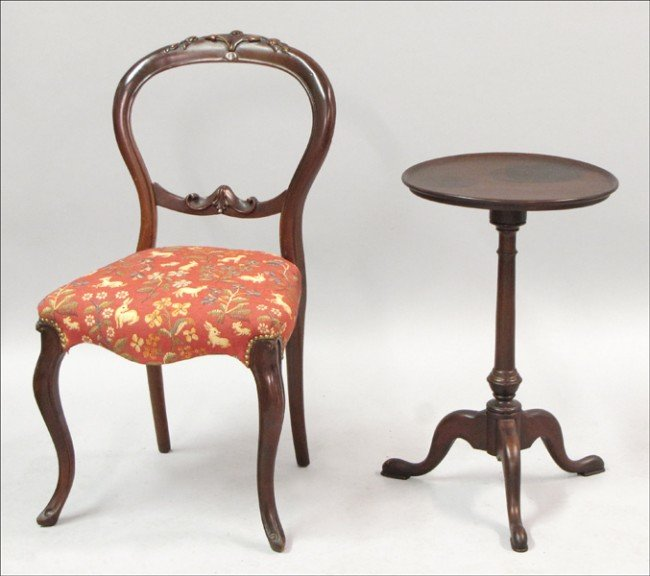 961007: VICTORIAN STYLE BALLOON-BACK SIDE CHAIR.