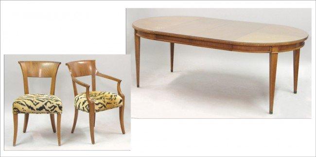 961020: MAHOGANY DINING TABLE.