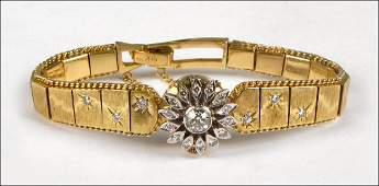 967005 LAFEMME DIAMOND AND 14 KARAT YELLOW GOLD WATCH