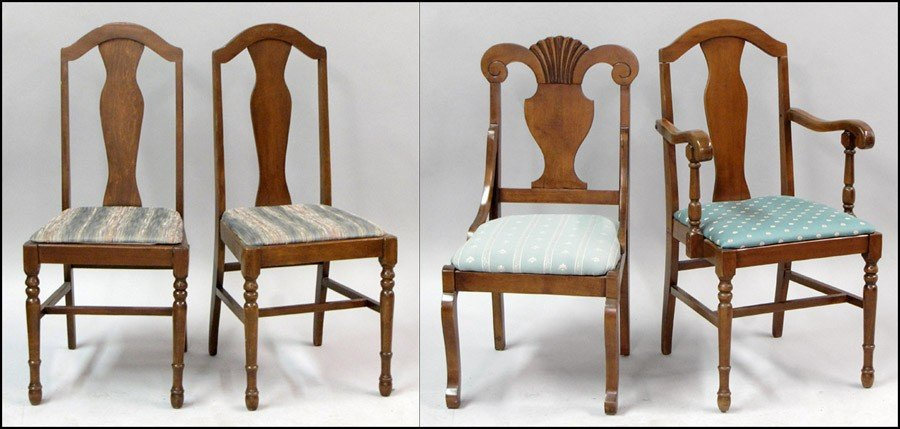 971011: PAIR OF WALNUT SIDE CHAIRS.