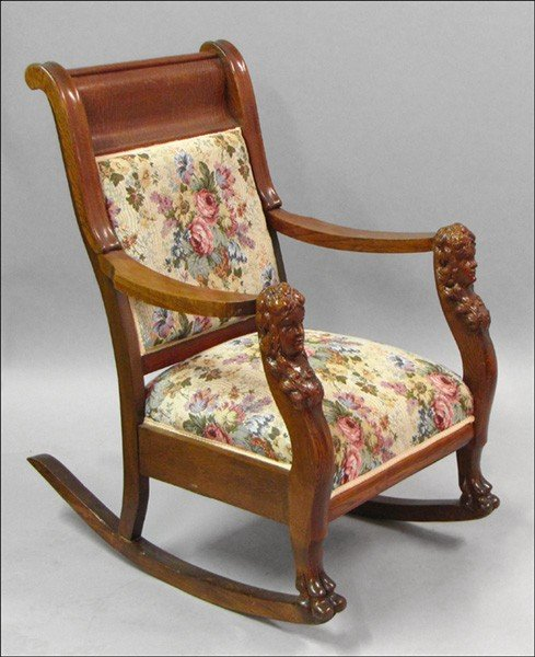 Marvelous 971058 Victorian Style Carved Oak Rocking Chair Squirreltailoven Fun Painted Chair Ideas Images Squirreltailovenorg