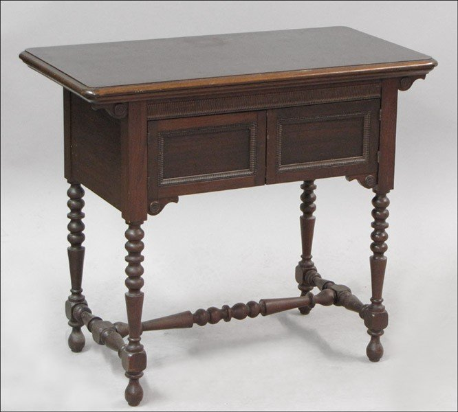 981009: WESTERN ELECTRIC SEWING MACHINE TABLE.