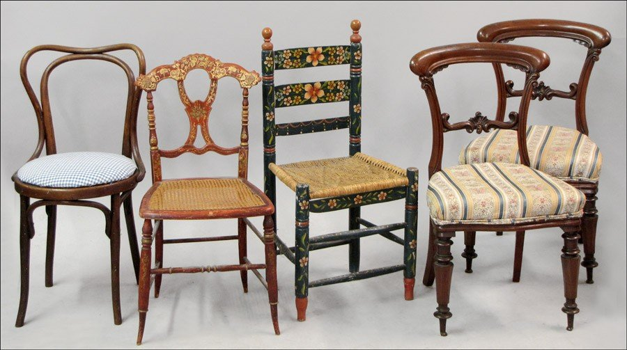 981014: PAIR OF VICTORIAN MAHOGANY SIDE CHAIRS.