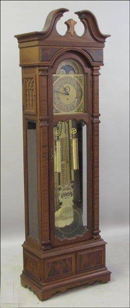 991012: MOLYNEUX MAHOGANY TALL CASE CLOCK.
