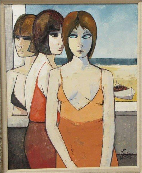 996008: CHARLES LEVIER (1920-2004) FEMMES DEVANT LA MER