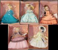 998015 FIVE MADAME ALEXANDER DOLLS FROM PORTRETTES SER