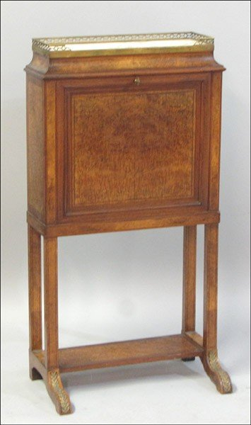 1011009: FRENCH BURL WALNUT FALL-FRONT FOLIO STAND.