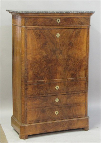 1011012: 19TH CENTURY LOUIS PHILIPPE STYLE WALNUT FALL-