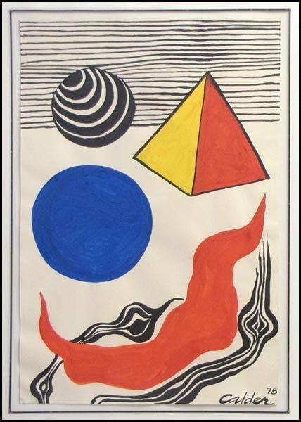 1016015: ALEXANDER CALDER (1898-1975) La Vague Rouge