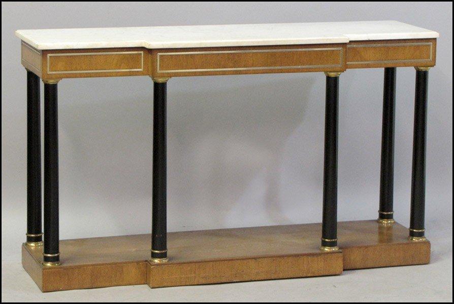 1031001: KENT MAHOGANY CONSOLE TABLE.