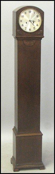 1031017: ENGLISH OAK GRANDMOTHER'S CLOCK.