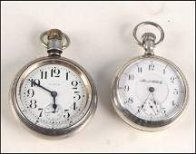 1037042 TWO STERLING SILVER POCKET WATCHES