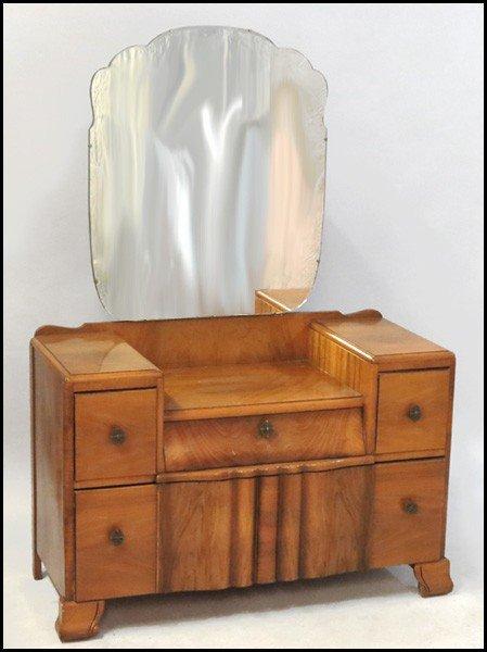 1041001: ENGLISH WALNUT DRESSING TABLE.