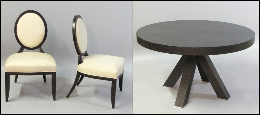 1041005: SET OF FOUR BARBARA BARRY FOR BAKER CHAIRS.