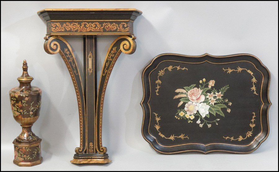 1041013: FAUX PAINTED CONSOLE TABLE.