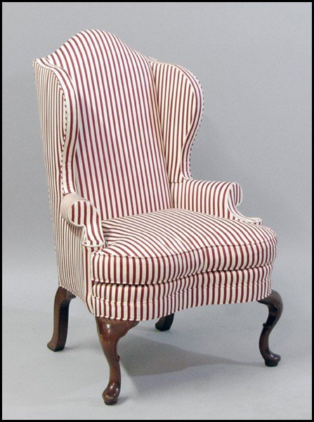 1041067: STATESVILLE CHAIR COMPANY  UPHOLSTERED MAHOGAN