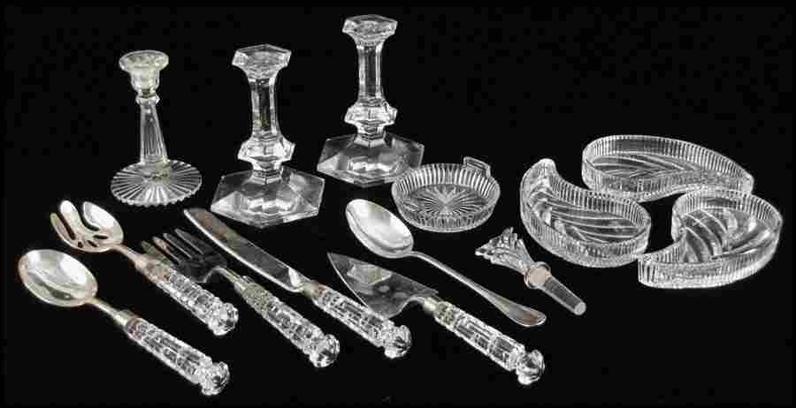 1042160: THREE WATERFORD CRYSTAL PAISLEY FORM DISHES.