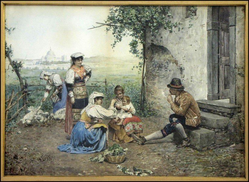 1046038: F. BALLESIO (ITALIAN, 19TH CENTURY) THE GATHER
