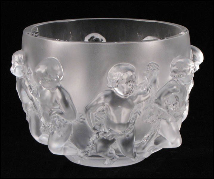 1052001: LALIQUE LUXEMBOURG CRYSTAL CENTER BOWL.