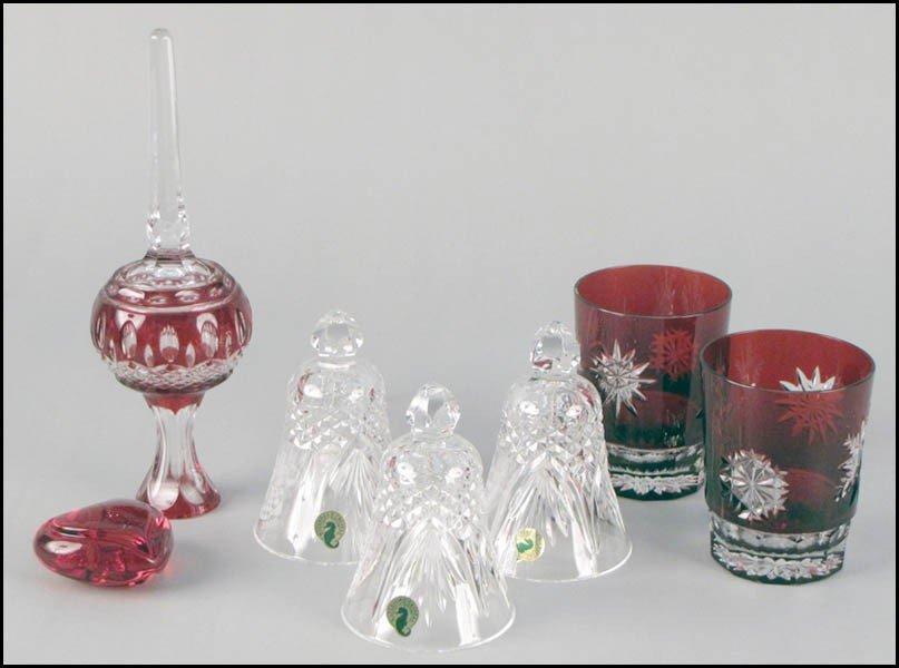 1052003: THREE WATERFORD CRYSTAL CHRISTMAS BELLS.