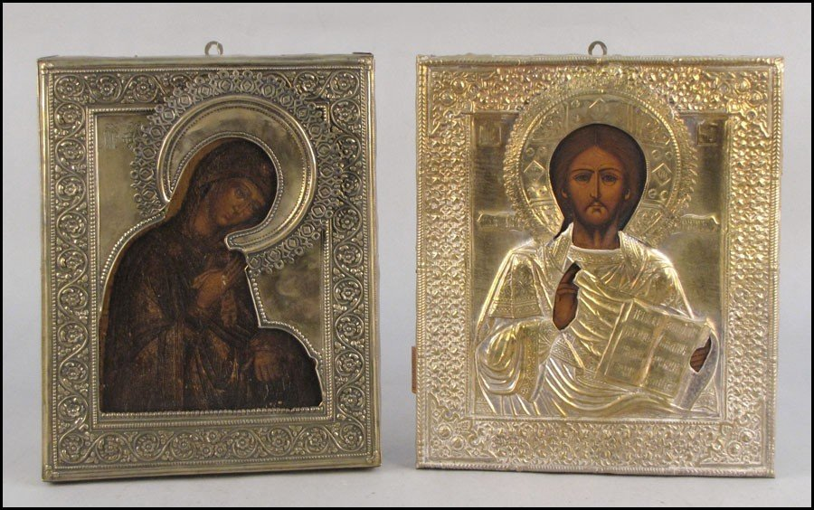1052025: TWO 20TH CENTURY RUSSIAN ICONS.