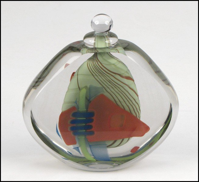 1052135: BRENT KEE YOUNG GLASS BOTTLE.