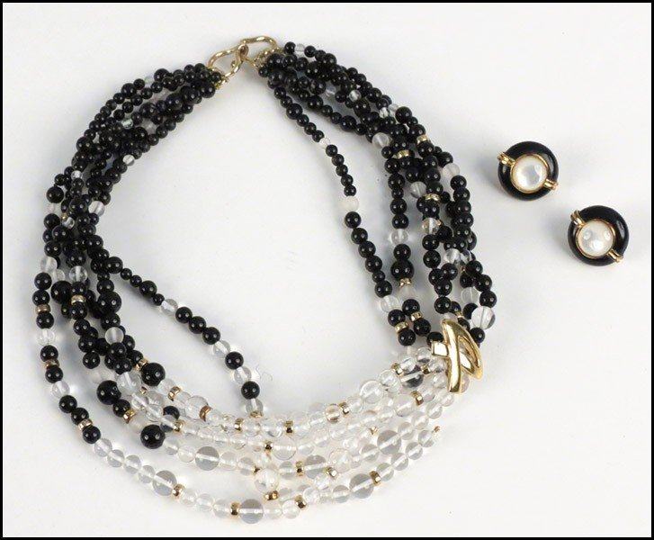 467004: KAI-YIN LO MULTI-STRAND NECKLACE.